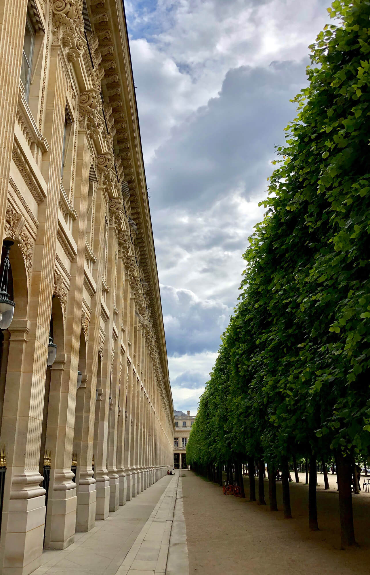 Palais-Royal garden in the heart of Paris, birth place of Charles Oudin maison.